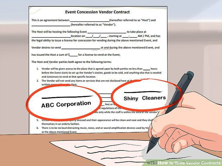 How to Write Vendor Contracts (with Pictures) - wikiHow