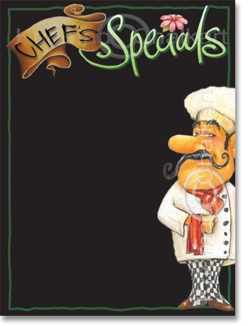 Chef's Specials Menu Board Template | Art Shop