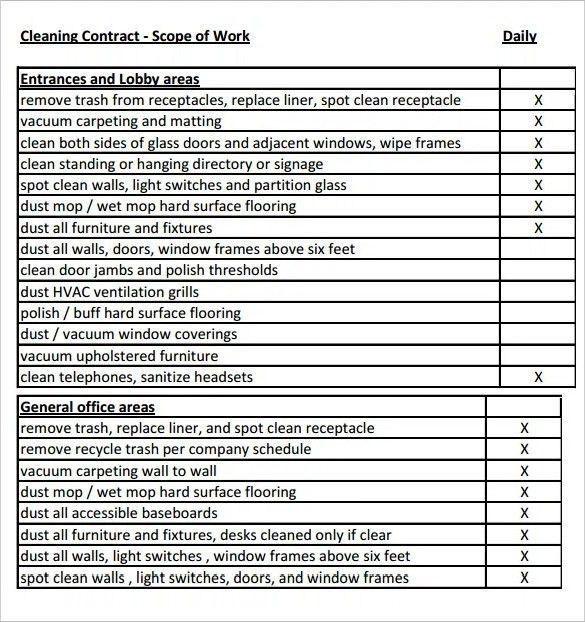 Scope Of Work Template | ebook