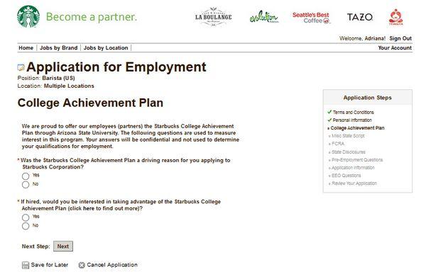 Starbucks Career Guide – Starbucks Application | Job Application ...