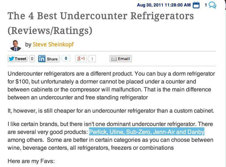 Best 25+ Undercounter refrigerator ideas on Pinterest | Kitchen ...
