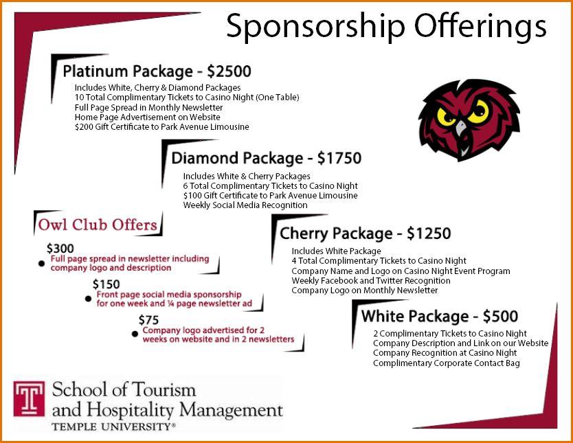 12+ sponsorship package template | Job Resumes Word
