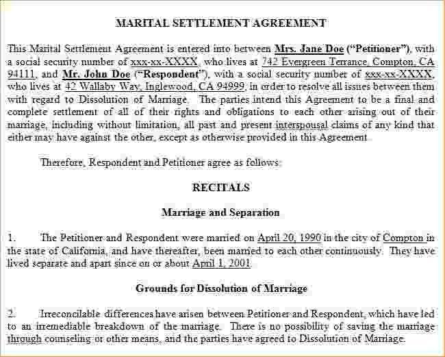 12+ marital settlement agreement form | Pay Stub Template