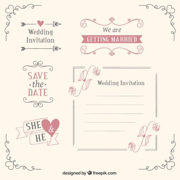 Wedding templates and decoration Vector | Free Download