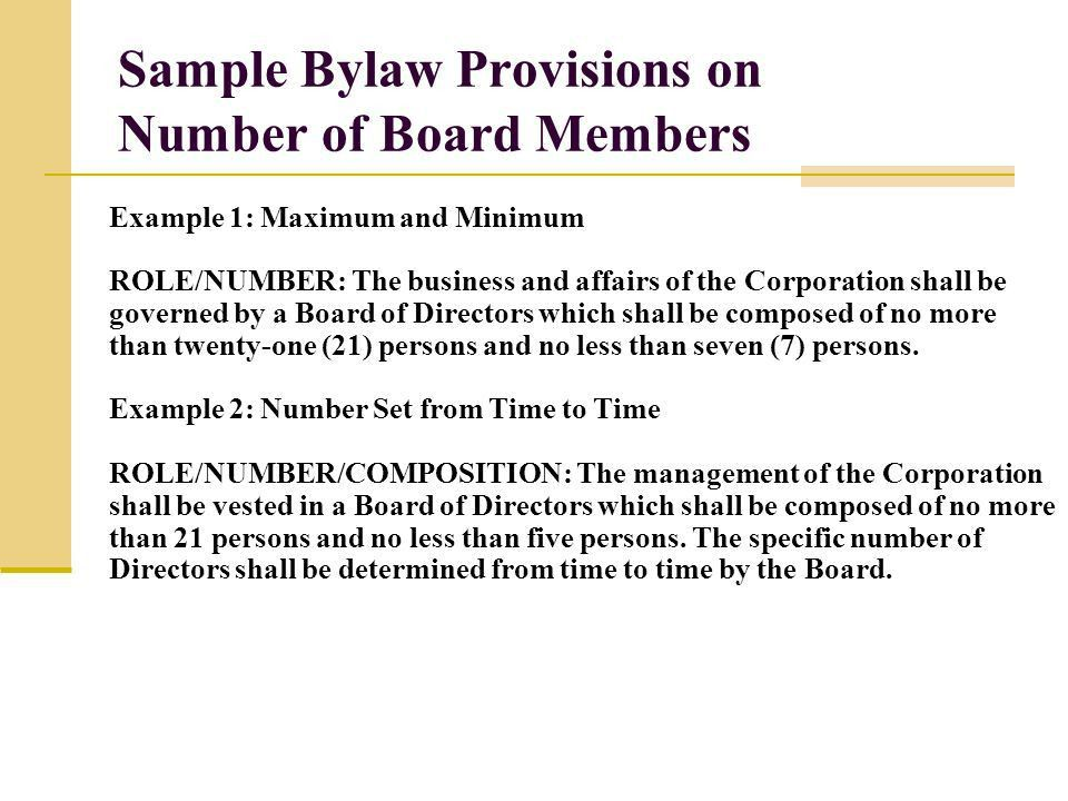 Business Bylaws Template - Contegri.com