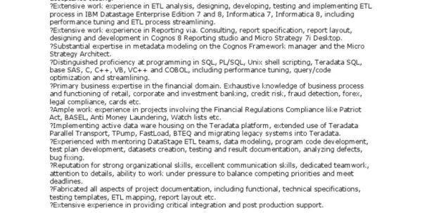 Ab Initio Developer Responsibilities AB Initio Developer Resume ...