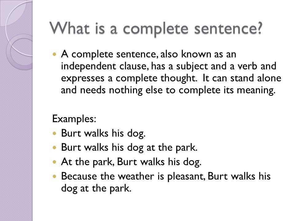 Sentence fragments: Putting the puzzle together. What is a ...