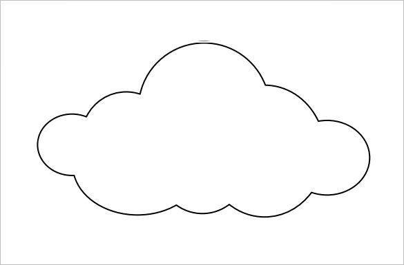 9+ Printable Cloud Templates Free Download!   Free & Premium Templates