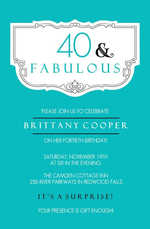 Birthday Invites: Surprise 40th Birthday Invitations Free Download ...