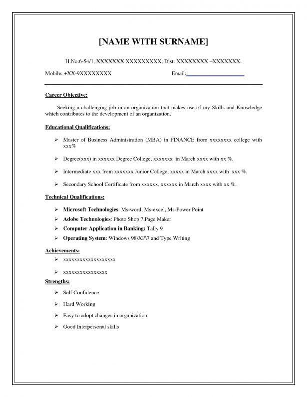 Cover Letter : Biodata Format For Accountant Sample Cv For ...