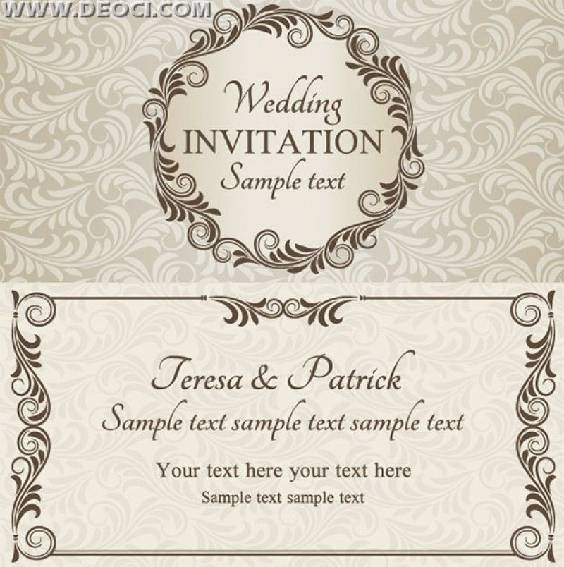 Marriage Invitation Card Template Free Download. Wedding Cards ...