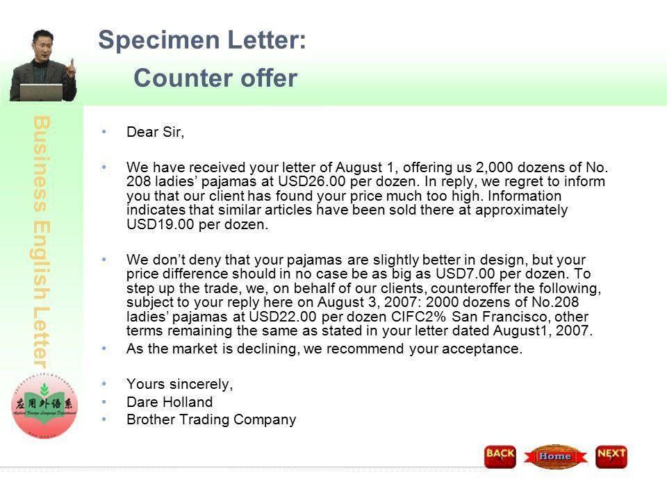 Counterproposal Letter. Format Of Event Proposal Letter ...