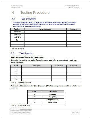 Acceptance Test Plan Template | Free Logs, Forms and Checklists