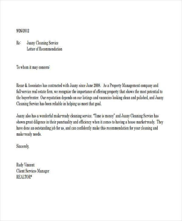 Basic Letter Of Recommendation. Letter Of Recommendation Sample #1 ...