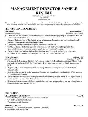 board of directors resume sample board of directors resume