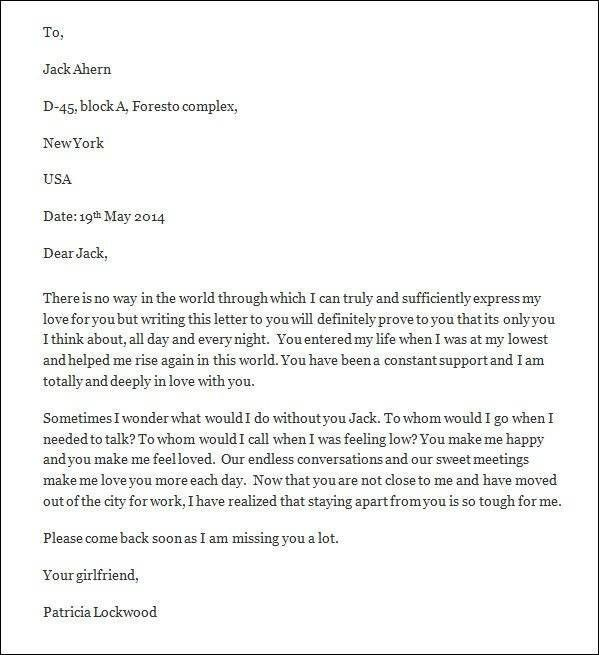 Romantic Love Letters For Him | | How to Format a Cover Letter