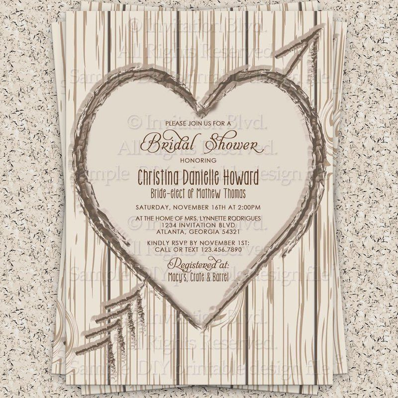 Rustic Bridal Shower Invitations | Bridal Shower Invitations