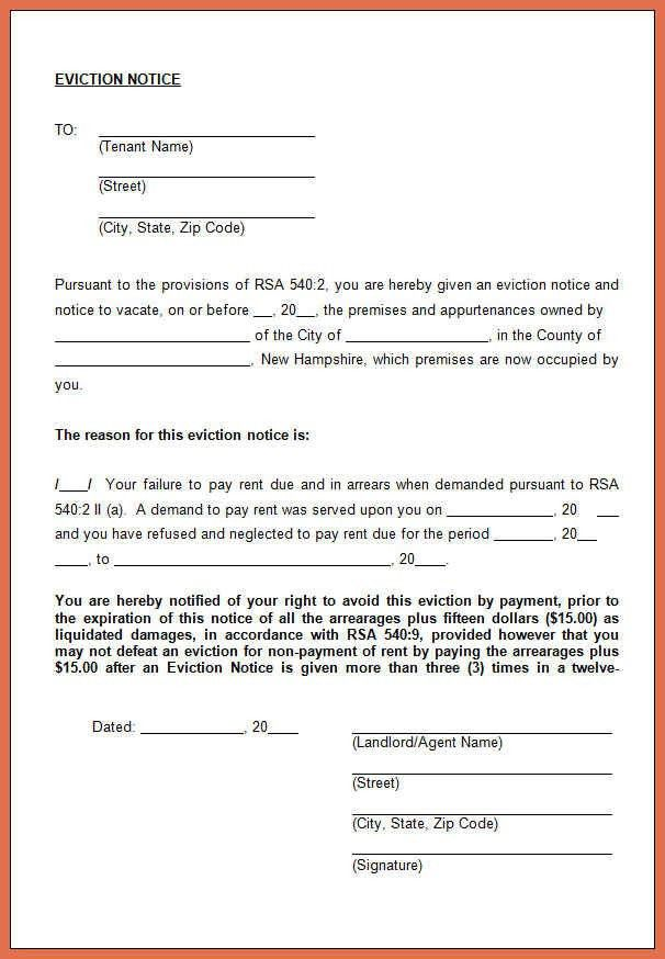 Eviction Notice Example. Eviction Notice Pdf Template Lease ...