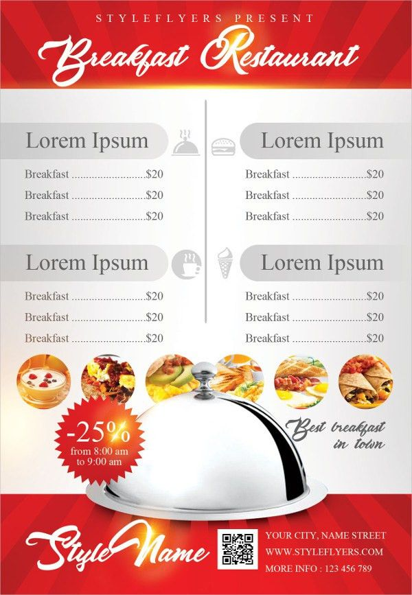 Breakfast Menu Templates - 17+ Free PSD, Ai, EPS, Vector Format ...