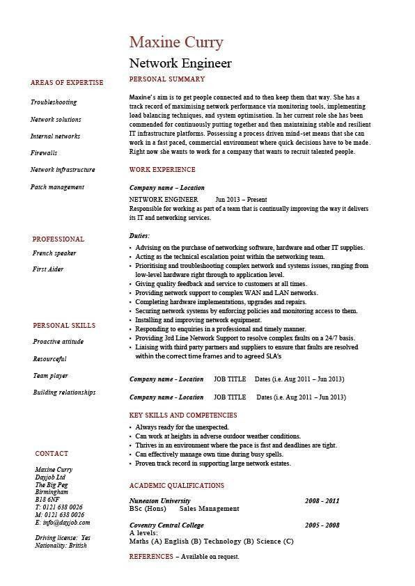 Download Network Design Engineer Sample Resume ...