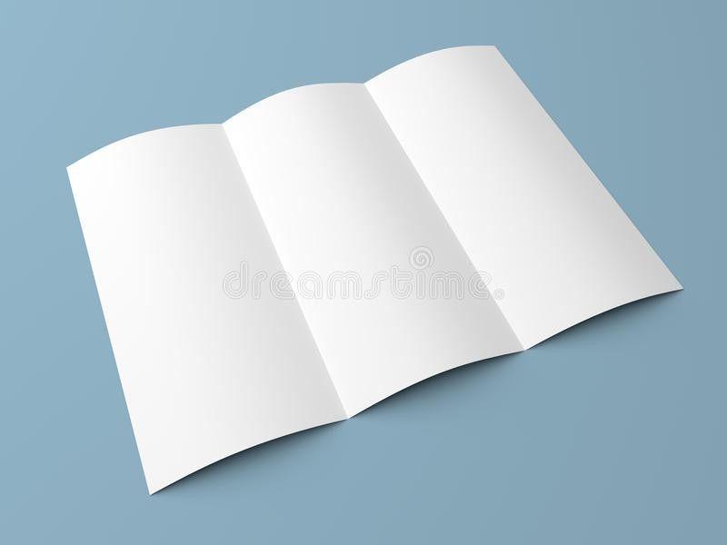 Leaflet Blank Tri Fold White Paper Brochure Stock Photo - Image ...
