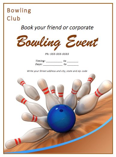 Bowling Match Flyer Template | Free Flyer Templates