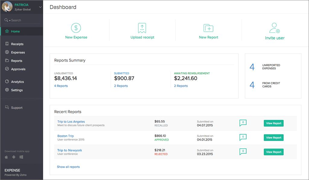 Introducing Zoho Expense: Transforming Business and Travel Expense ...