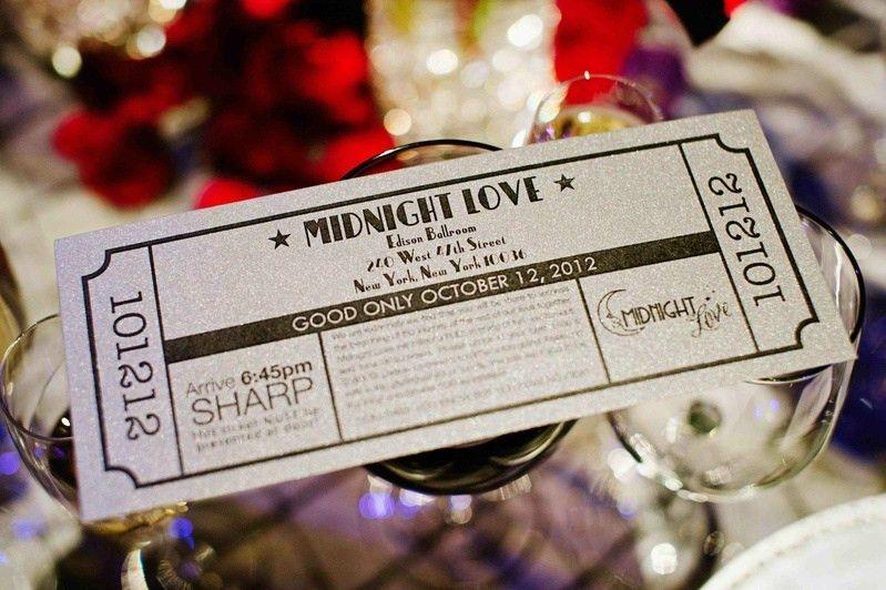 Invitations & More Photos - Theatre Ticket Wedding Invitation ...