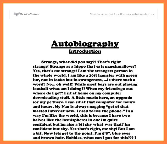 8+ autobiography examples for college students | Bussines Proposal ...