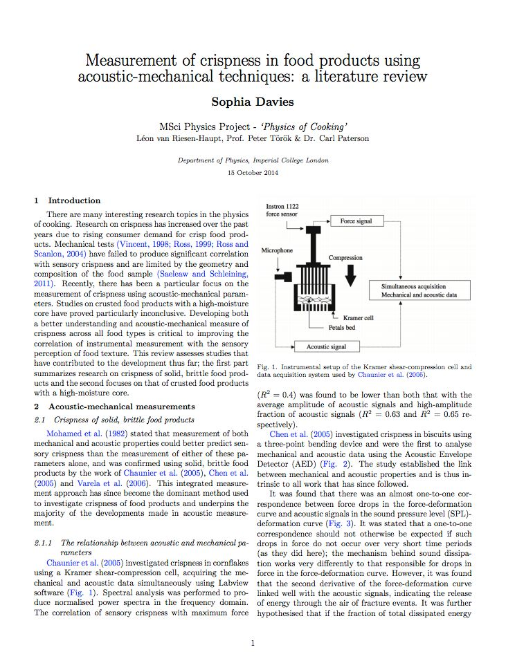 Literature Review on Existing Acoustic-Mechanical Research ...