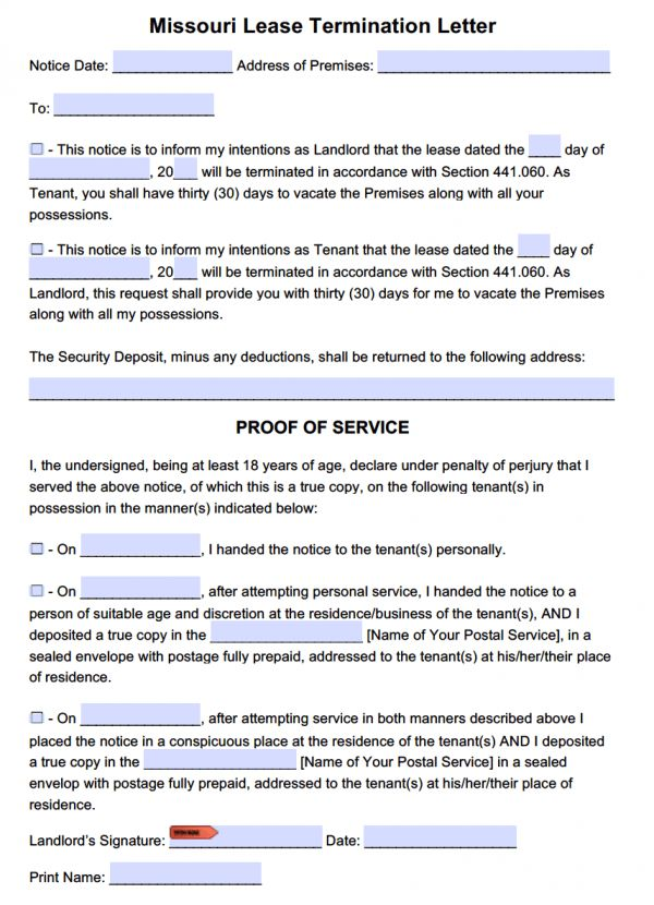 cover letter sample letter to terminate lease from landlord sample ...