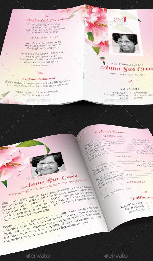 20 Editable Funeral Announcement Templates | PSD, DOCX Formats