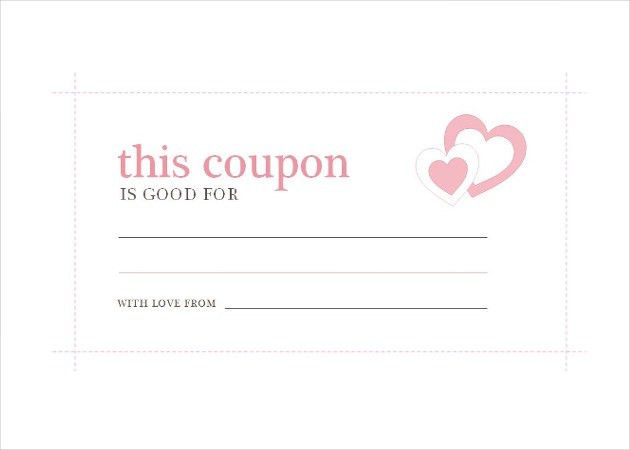 homemade birthday coupon template download. homework blank coupon ...