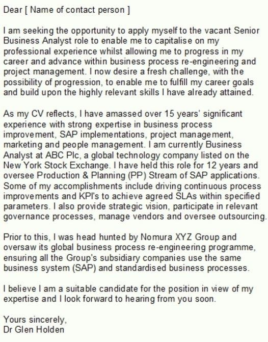 24 Cover Letter Template For Sample System Analyst Resume Digpio ...