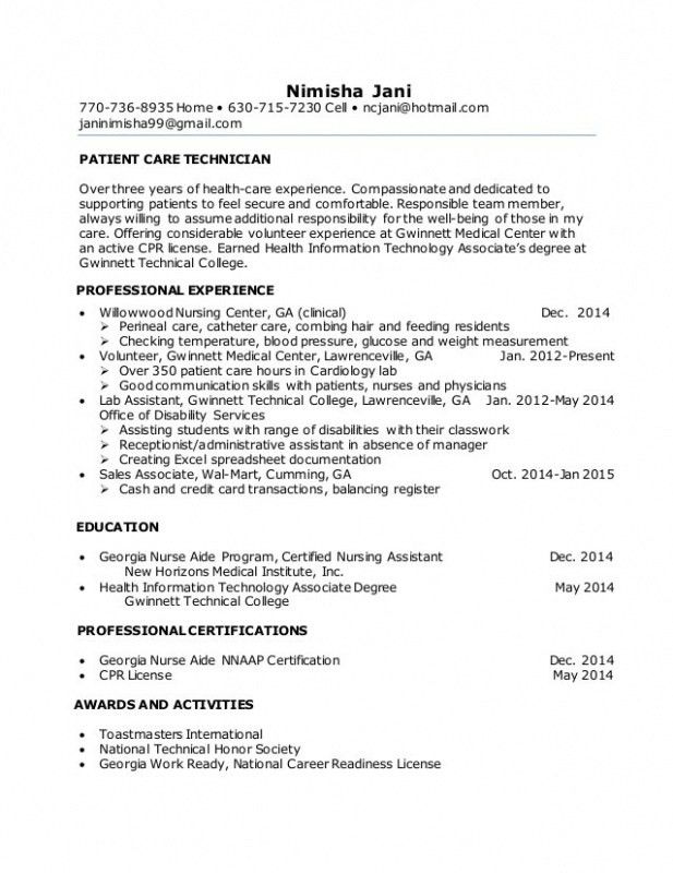 Dialysis Technician Resume With No Experience. download dialysis ...