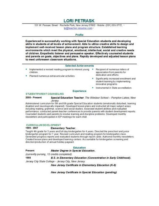 best 25 teacher resume template ideas on pinterest resume ...