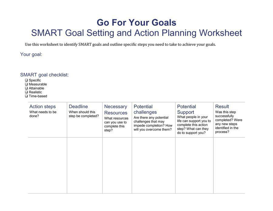 48 SMART Goals Templates, Examples & Worksheets – Free Template ...
