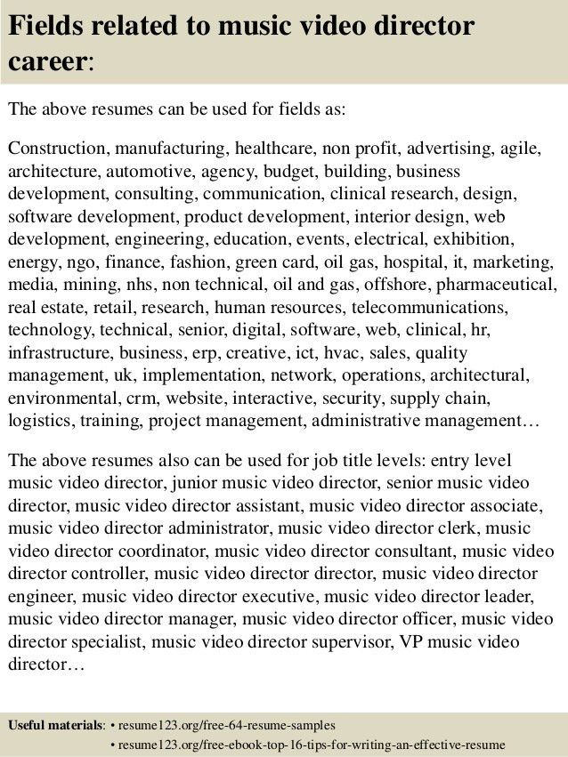 Videographer Resume Cover Letter