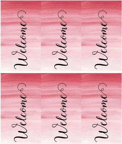 Gift Bag Welcome Tag - Label Templates - OL1062 - OnlineLabels.com