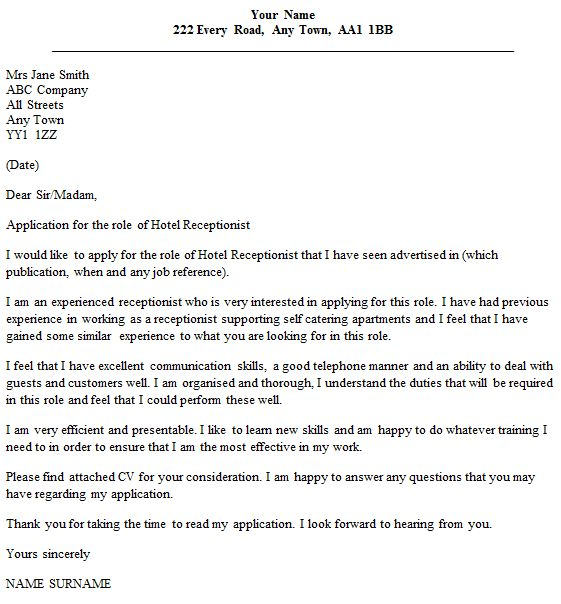 20+ [ Cover Letter Dear Sir Or Madam ] | Applying For A Job E Mail ...