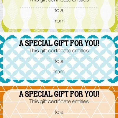 Best 25+ Printable gift certificates ideas on Pinterest | Free ...