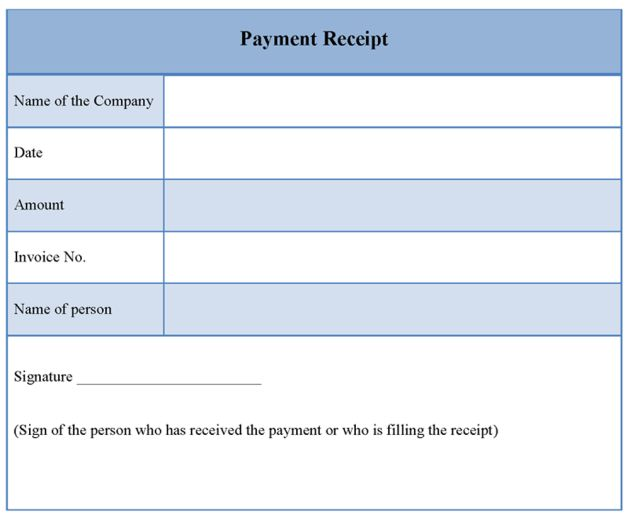 Cash Receipt Template : Cash Receipt Template. Receipt Of Payment ...