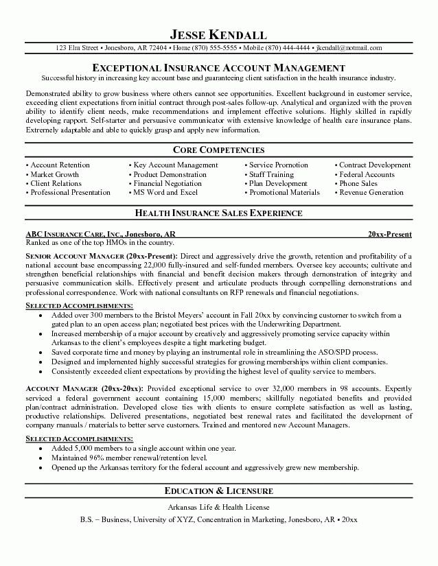 Sample Insurance Resumes | Free Resumes Tips