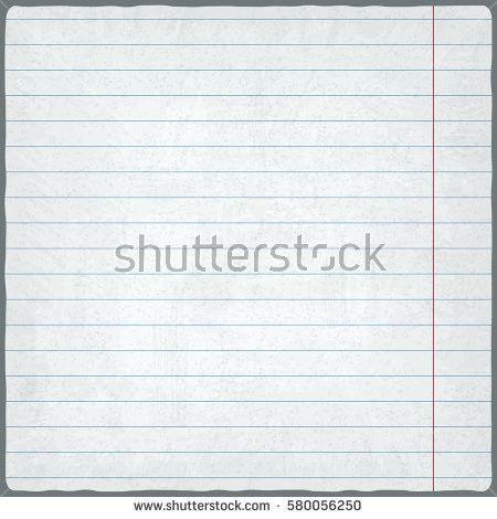 Lined Paper Blank Design Sheet Vector Stock Vector 580056250 ...