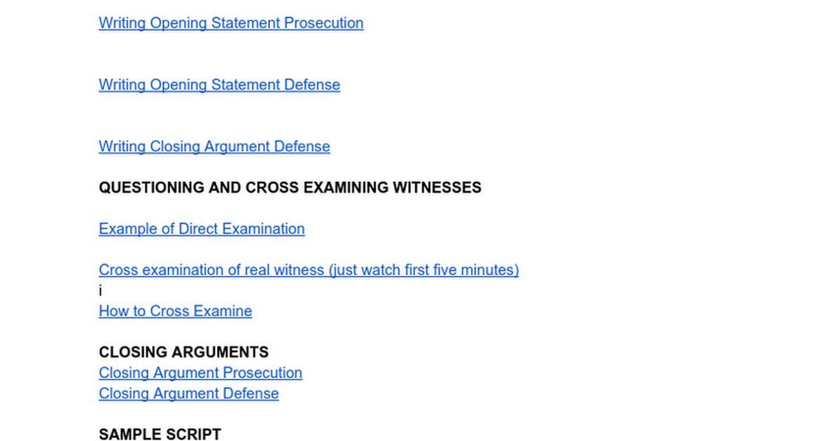 Mock Trial Information - Google Docs