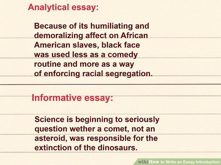 introductions to essays examples