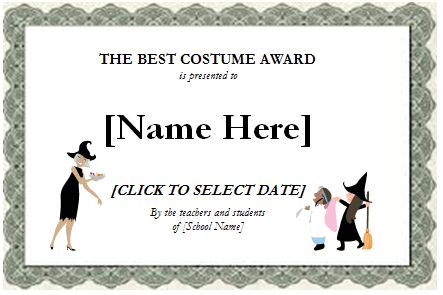 Birthday, Halloween and Most Valuable Player Award Certificates ...