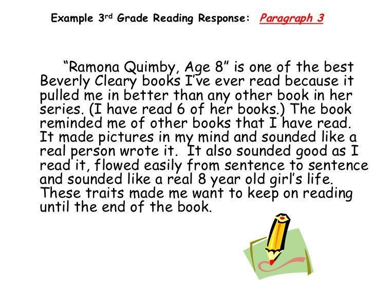 Teaching Response to Literature 3rd grade