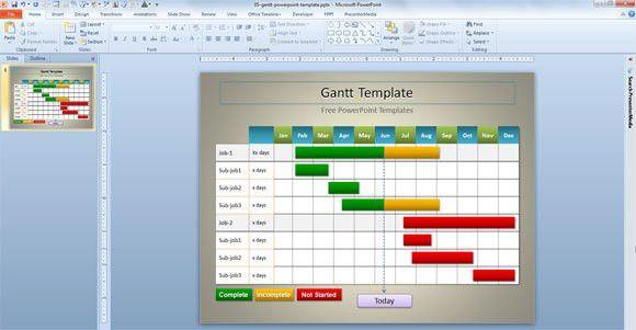 Gantt Template for PowerPoint