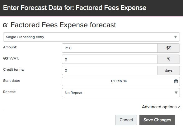 How to Forecast Invoice Factoring with Recourse | FUTRLI Help Guides
